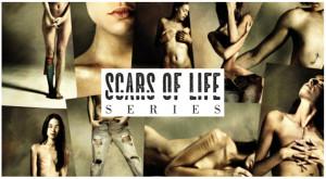 Daniele Deriu Scars of life logo postcardcult